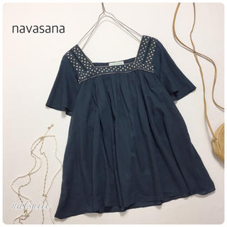 ナバアサナ(navasana)のnavasana アメリカンラグシー . 刺繍 プルオーバー ブラウス(シャツ/ブラウス(半袖/袖なし))