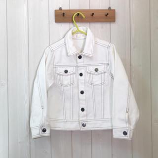 ジーユー(GU)のGU♡ホワイトデニムジャケット♡110cm(ジャケット/上着)