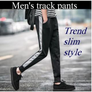 メンズ XL 黒 サイドライン スウェットパンツ 街着 スポーツ ジョガーパンツ(その他)