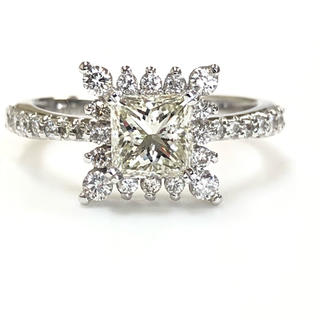 K18 プリンセス ダイヤモンドリング
