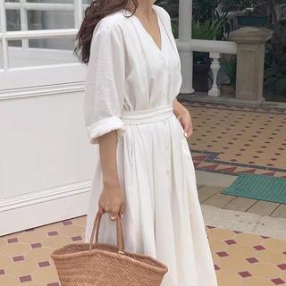 インポート 韓国ファッション コットンワンピース 夏ワンピース