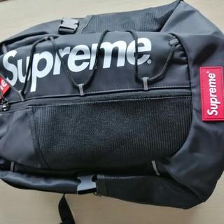 シュプリーム(Supreme)のsupreme 黒リュックバック バッグバッグ(バッグパック/リュック)
