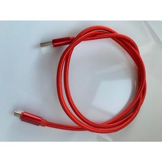 【送料無料】Micro-B USB 高耐久 充電用ケーブル 1M レッド