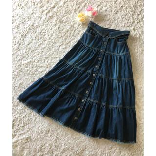 ニコル(NICOLE)のフレアデザインが素敵♪ニコルデニムロングスカート(ロングスカート)