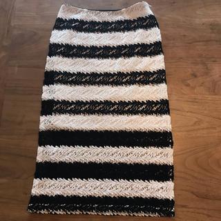 ルカ(LUCA)のLUCA 綿レースタイトスカート 36(ロングスカート)