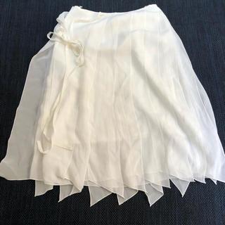 エフデ(ef-de)のエフデef-de 白スカート9号(ひざ丈スカート)