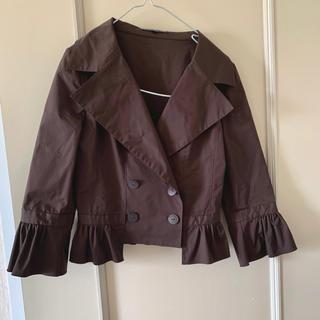 フォクシー ダブルボタン 裾シャーリング ジャケット