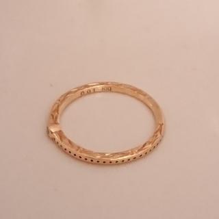 アガット(agete)のアガット  指輪 ピンキーリング  K10  YG  ダイヤモンド #3(リング(指輪))