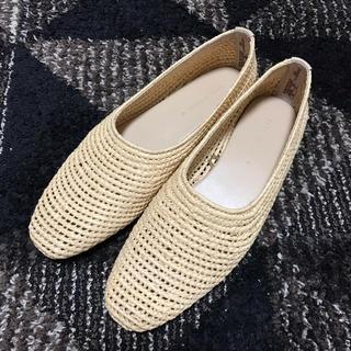 ザラ(ZARA)のZARA 編み込みフラットパンプス(ローファー/革靴)