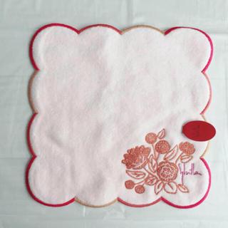 シビラ(Sybilla)の*新品未使用* シビラ タオルハンカチ 花柄 ピンク(ハンカチ)