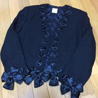 【最終値下げ】未使用品 カネコイサオ リボン 編み上げ ジャケット 絹混