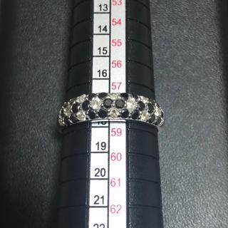 k18WG ダイヤ.ブラックダイヤ1.0ct リング(リング(指輪))
