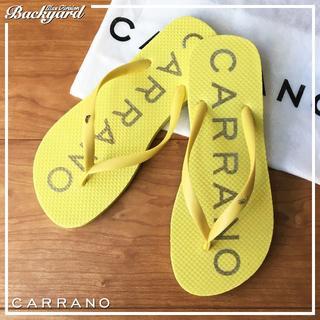カラーノ(CARRANO)の☆CARRANO ビーチサンダルイエロー 23.0cm【新品】0423(サンダル)