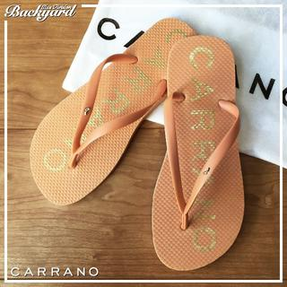 カラーノ(CARRANO)の☆CARRANO ビーチサンダル ライトピンク 23.0cm【新品】0423(サンダル)