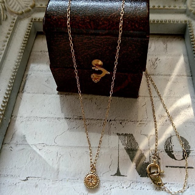 AURORA GRAN(オーロラグラン)のオーロラグラン☆*。K10 ブラウンダイヤ ロシオラウンド ネックレス  レディースのアクセサリー(ネックレス)の商品写真