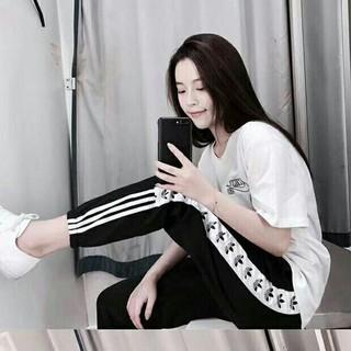 アディダス(adidas)の 7.三つ葉の女性のスポーツカジュアルパンツ(カジュアルパンツ)