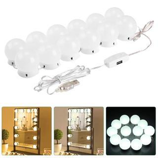 化粧鏡ライト 女優ミラーライト ハリウッドライト 12個LED電球 USB給(その他)