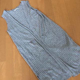 シマムラ(しまむら)のロング ジレ グレー 体型カバー Mサイズ(ベスト/ジレ)