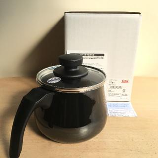 ヴェーエムエフ(WMF)のsilit シリット ミルクポット14cm(ガラス蓋付き) ブラック (鍋/フライパン)