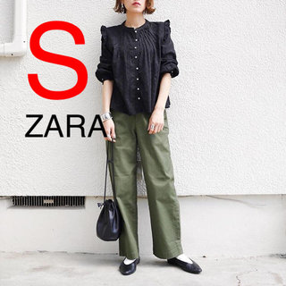ZARA - ザラ ブラウス シャツ フリル レース