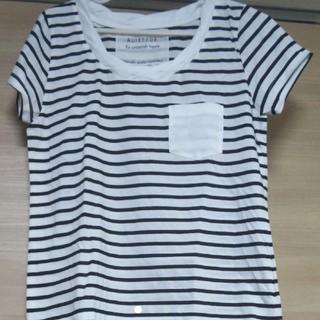 アウィーエフ(AuieF)のアウィーエフ 白黒ボーダーTシャツ タグ付き☆(Tシャツ(半袖/袖なし))