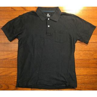 シマムラ(しまむら)の無地 ブラック 鹿の子 ポロシャツ XL 半袖(ポロシャツ)