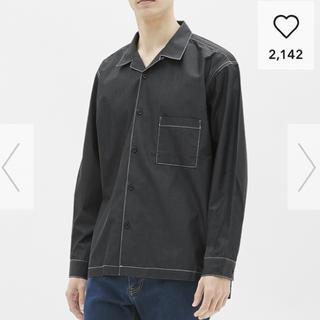 ジーユー(GU)のGU オープンカラービッグシャツ(シャツ)