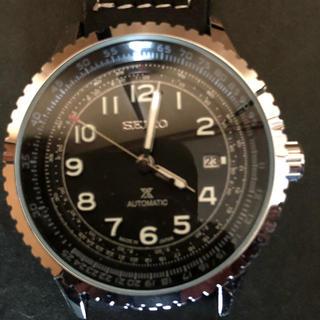 セイコー 自動巻 メンズ腕時計 海外モデル 黒文字盤  オートマチック