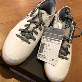 アディダス(adidas)の新品 タグ付 アディダス キッズ フットサルシューズ 22センチ(スニーカー)