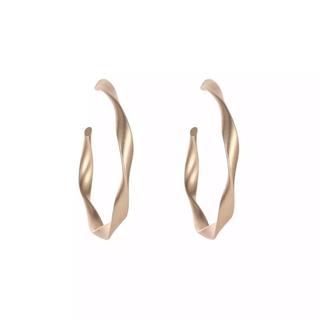 ナノユニバース(nano・universe)のMatgold hoop earrings No.26(ピアス)