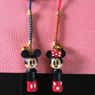 ディズニー(Disney)のミッキー・ミニー ペアストラップ(ストラップ/イヤホンジャック)