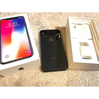 iPhone - 美品!SIMフリー!iPhone X 64GB