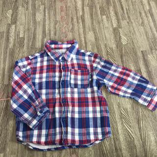 ニシマツヤ(西松屋)のチェックシャツ 95(ブラウス)