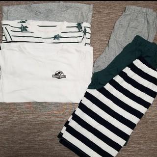 ジーユー(GU)のジーユー 半袖パジャマ 3着セット(パジャマ)