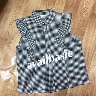 シマムラ(しまむら)の☆availbasic☆ ノースリーブシャツ Lサイズ(シャツ/ブラウス(半袖/袖なし))