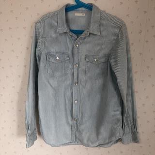 ジーユー(GU)のGU ストライプシャツ140(Tシャツ/カットソー)