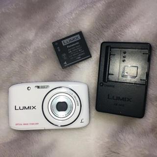 パナソニック(Panasonic)のLUMIX  DMC-s2 デジタルカメラ デジカメ ホワイト(コンパクトデジタルカメラ)