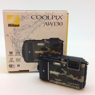 ニコン(Nikon)のNIKON AW130 カモフラージュグリーン(コンパクトデジタルカメラ)