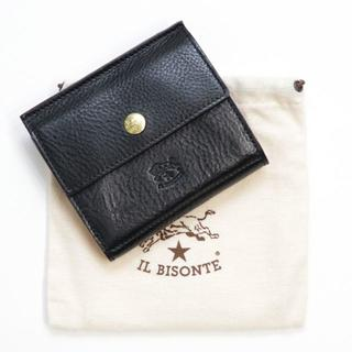 da9a7f5c775a イルビゾンテ(IL BISONTE)の新品 イルビゾンテ 財布 黒 二つ折り ミニ財布 ブランド W