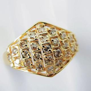 K18 淡ブラウン ダイヤモンド リング 17号[f438-1b](リング(指輪))