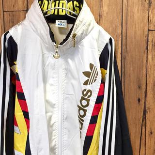 アディダス(adidas)のビンテージ 90's adidas ナイロンジャケット XXL ビッグサイズ(ナイロンジャケット)
