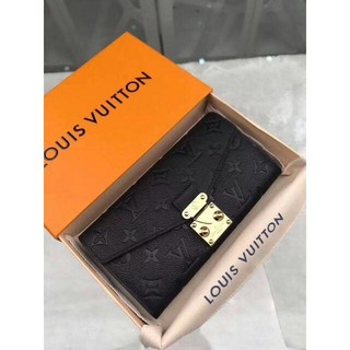 LOUIS VUITTON - LouisVuitton 長財布 ルイ.ヴィトン 黒折り財布