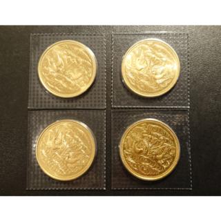天皇陛下御即位60年記念 10万円金貨 4枚