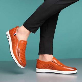 ■26.0cm■ブラウン スニーカー ローファー 革靴 スリッポン ウォーキング(スリッポン/モカシン)