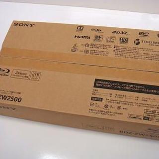 SONY - SONY BDZ-ZW2500 ブルーレイレコーダー 2TB 新品