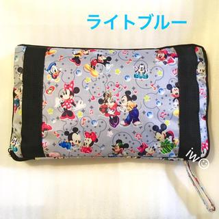 ディズニー(Disney)のミッキー ミニー ライトブルー ボストンバッグ キャリーオンバッグ 旅行バッグ(ボストンバッグ)