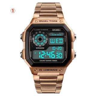 ビジネスウォッチ デジタル 腕時計 50M防水(送料無料)(腕時計(デジタル))