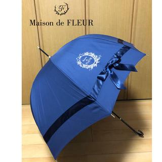Maison de FLEUR - メゾンドフルール《晴雨兼用》サテンビッグリボン長傘