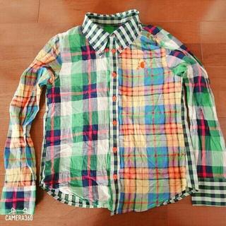 ブーフーウー☆チェックシャツ☆150