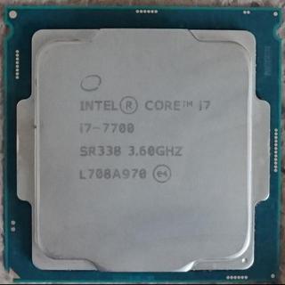 インテレクション(INTELECTION)のCPU INTEL COREi7-7700 SR338 3.60GHZ(PC周辺機器)